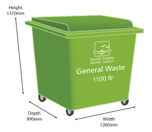 Green Bin - 1100 litre size