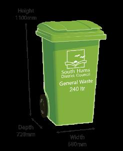 Green Bin - 240 litre size
