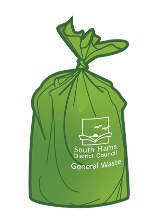 Green sack 35 ltr general waste