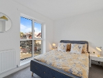 A bedroom in the new development at Copleston Heights