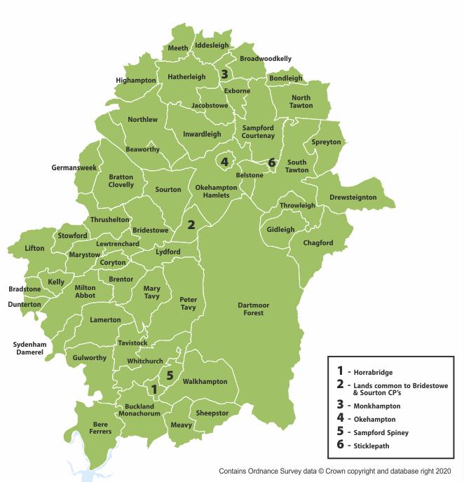 West Devon Ward Map