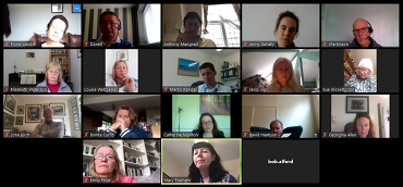 A screen grab from the weekly online meeting of Councillors, Officers, Community Groups and NHS representatives held fopr Totnes and surrounding areas.
