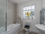 A photograph showing an example of a fitted bathroom in the newly built properties at Sherford