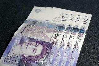 Four £20 notes