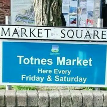 An image of the market at Totnes