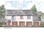 Artist's Impression of the exterior of a new build property at the Little Cotton Farm development